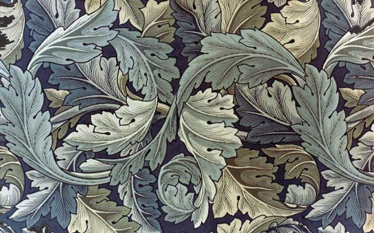 MORRIS: WALLPAPER, 1875.  William Morris 'Acanthus' wallpaper, 1875.