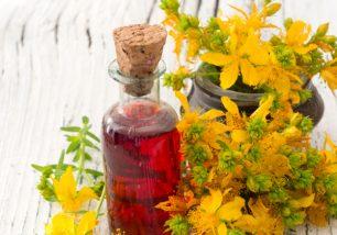 healing oil made of St John's wort